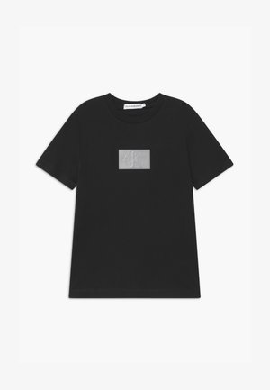 REFLECTIVE BADGE - Print T-shirt - black