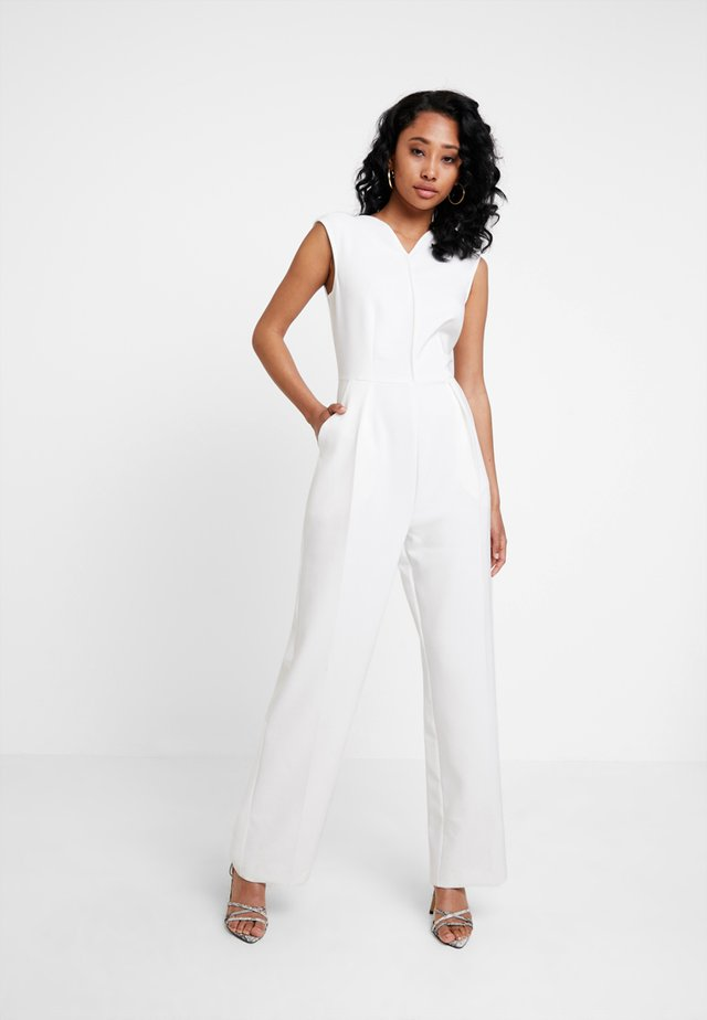 V-NECK - Jumpsuit - white