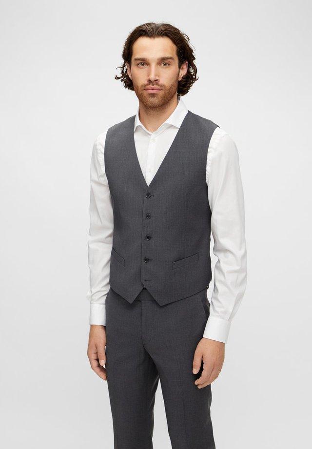 JUSTIN COMFORT WOOL - Waistcoat - dark grey