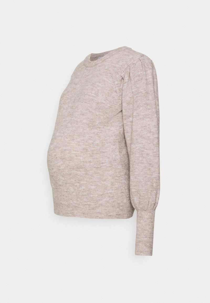 Pieces Maternity - PCMPAM ONECK - Jumper - warm taupe