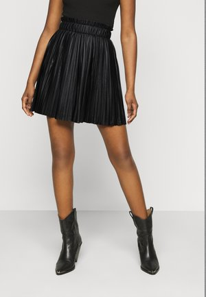 ONLMIE PLEAT SKIRT - A-line skjørt - black