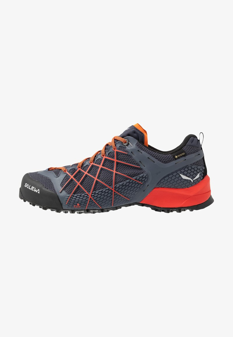 Salewa - MS WILDFIRE GTX - Hiking shoes - ombre blue/fluo orange