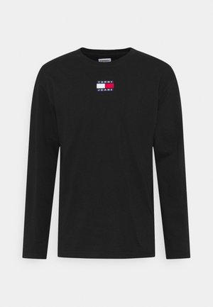 BADGE TEE UNISEX - Maglietta a manica lunga - black