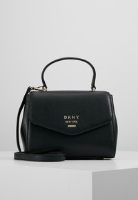 DKNY - WHITNEY SATCHEL - Across body bag - black/gold - 0