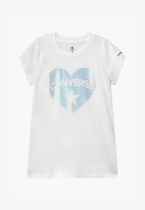 HEART TEE - T-shirt print - white