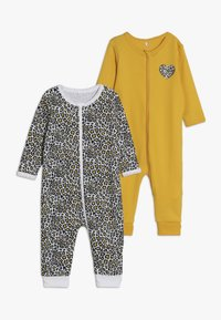 Name it - NBFNIGHTSUIT ZIP 2 PACK - Pijama - golden rod - 0