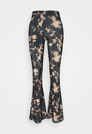 TIE DYE FLARE - Trousers - black