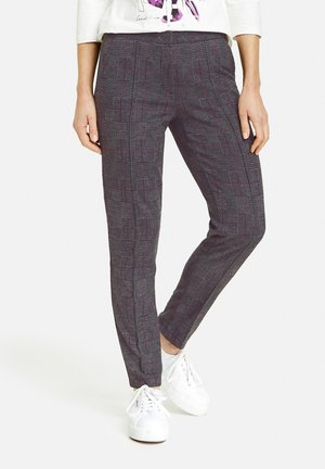 CITYSTYLE - Trousers - schwarz/anthra/beere
