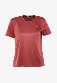 Nike Performance - MILER - Print T-shirt - cedar/reflective silver - 3