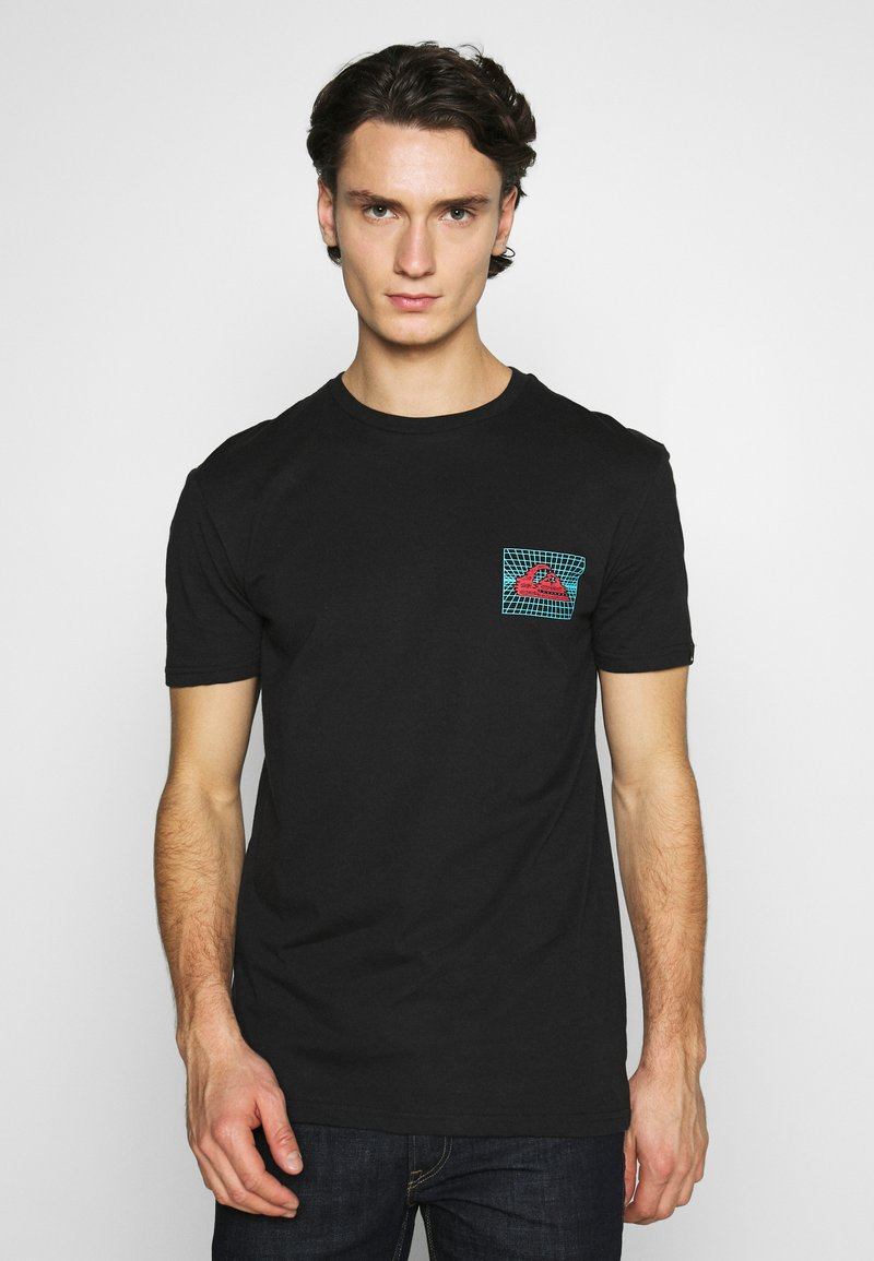 Quiksilver - SOUND WAVES - Print T-shirt - black