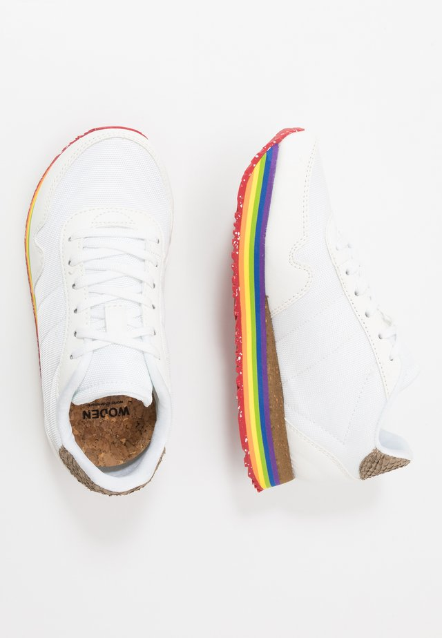 KATRINA TEEN PLATEAU - Sneakers laag - bright white/rainbow