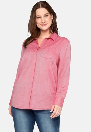 Button-down blouse - flamingo