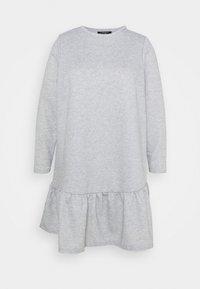 New Look Curves - DROP HEM DRESS - Day dress - grey niu - 0