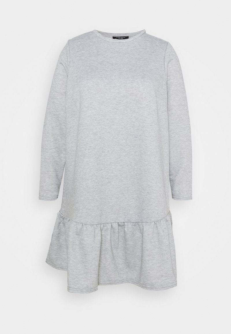 New Look Curves - DROP HEM DRESS - Day dress - grey niu