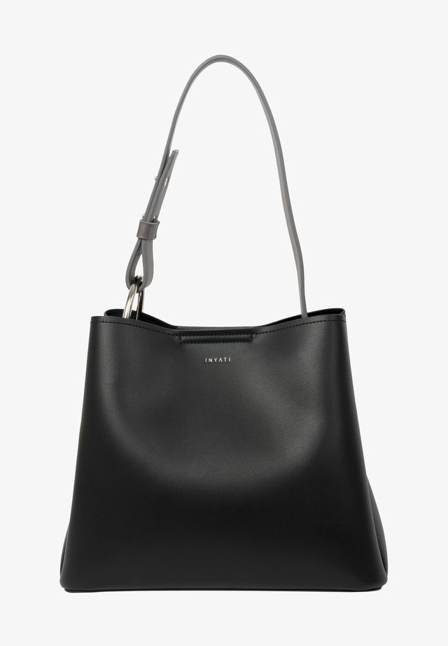 Handbag - black-grey