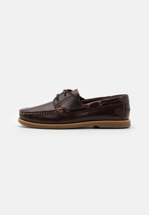NAVIGATOR - Boat shoes - brunello/tan