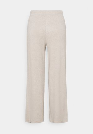 PCLEODA WIDE PANT - Trousers - birch/melange