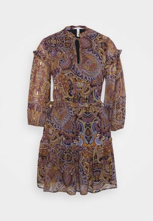 OBJMARCIN SHORT DRESS - Day dress - black/ethnic multi