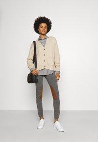 Polo Ralph Lauren - GEORGIA LONG SLEEVE - Button-down blouse - dark loden/white - 1