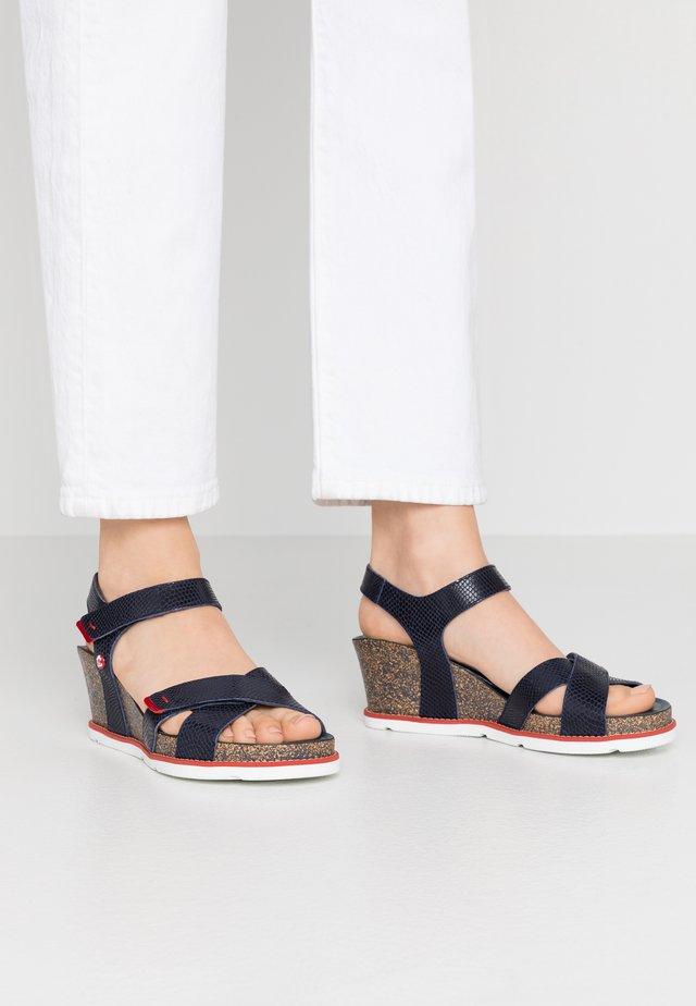 VIERI  - Platform sandals - dunkelblau