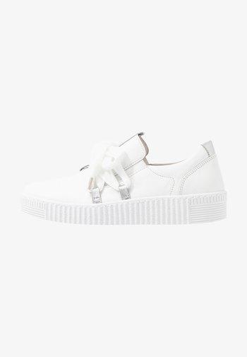 Sneakers basse - weiss/silber