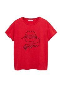 Violeta by Mango - BISOUS - T-shirt imprimé - rood - 0