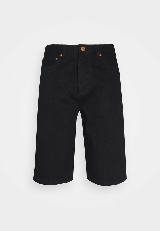 WORK - Shorts di jeans - black