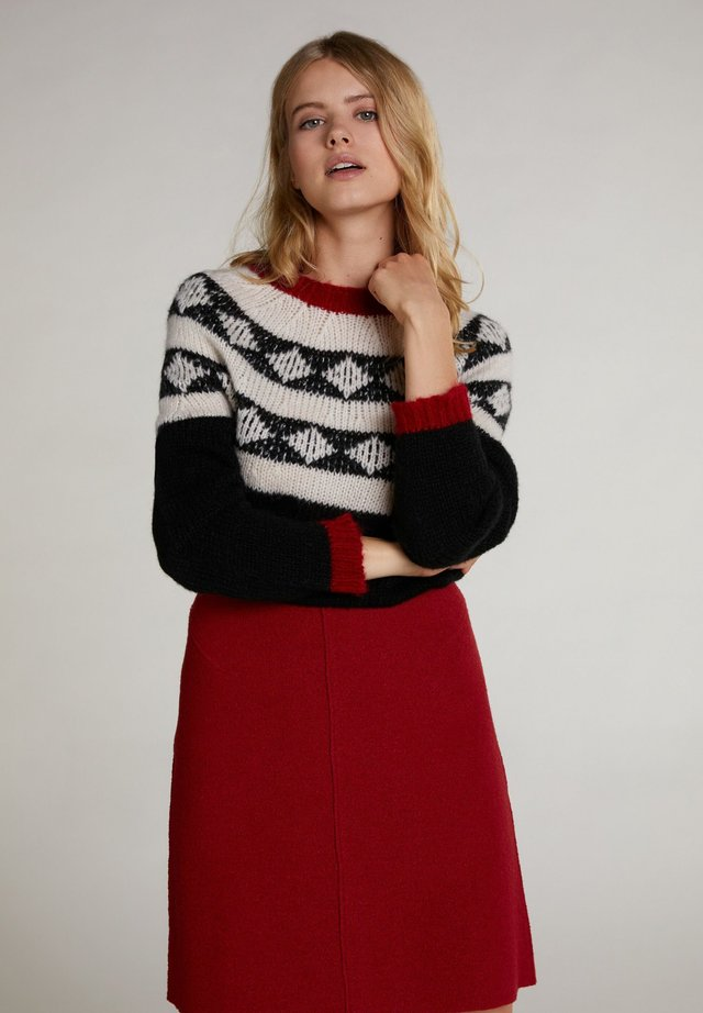 Pullover - black offwhite