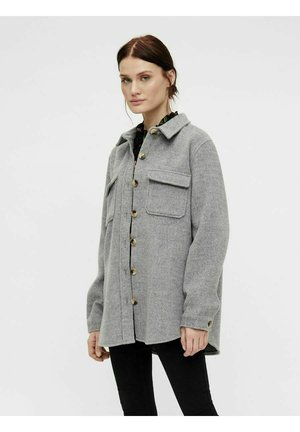 OBJVERA - Summer jacket - medium grey melange
