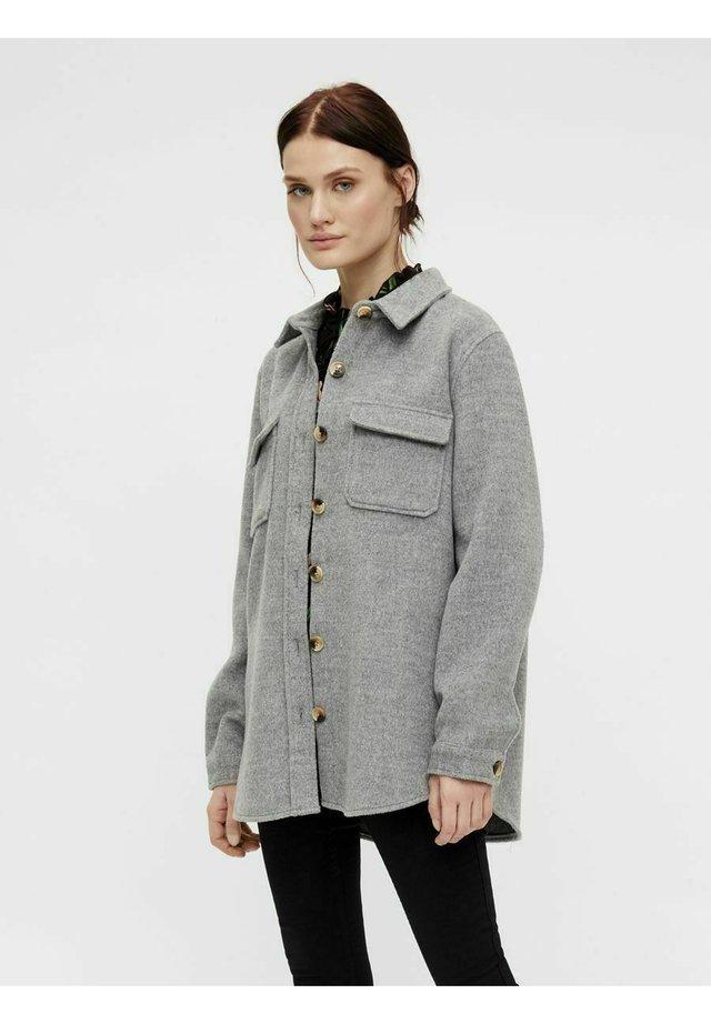 OBJVERA - Summer jacket - medium grey melange