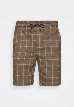 ONSLINUS CHECK - Shorts - cedar wood
