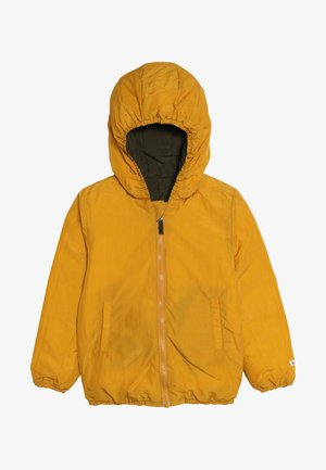 SNOW JACKET BABY  - Chaqueta de plumas - amber yellow/orion blue