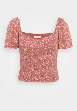 CINCH VNECK FLUTTER - Blouse - pink