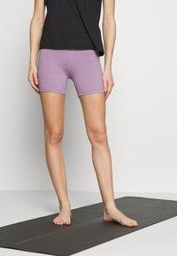 Cotton On Body - SO SOFT SHORT - Leggings - concrete marle/faded grape marle - 0