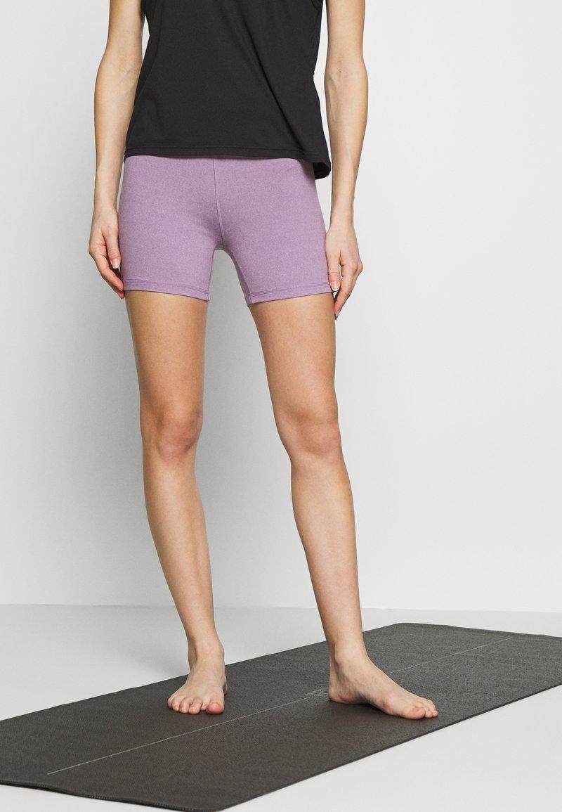 Cotton On Body - SO SOFT SHORT - Leggings - concrete marle/faded grape marle