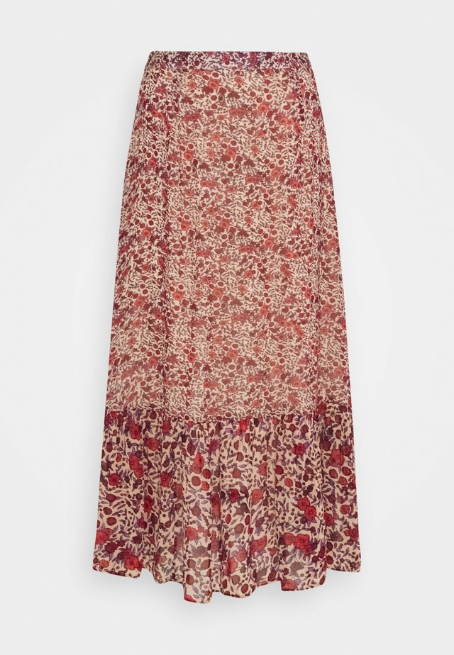 CARRIE - Maxi skirt - wild rose