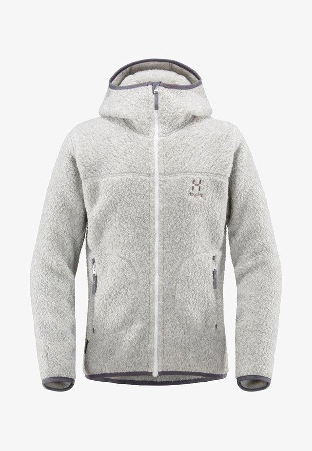 PILE HOOD - Fleece jacket - grey melange