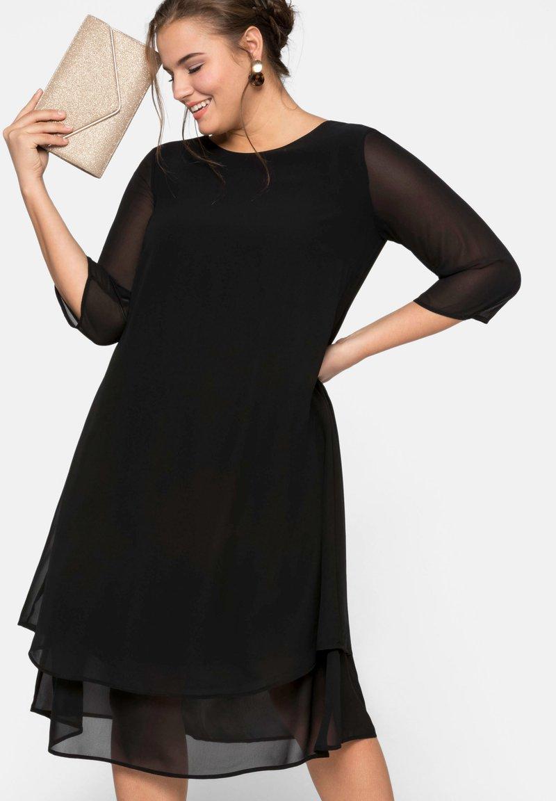 Sheego - Vestido de cóctel - black