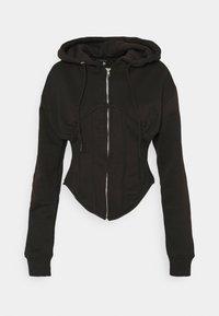 CORSET HOODY - Zip-up sweatshirt - black