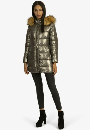 MIT ABNEHMBARER - Winter coat - taupe