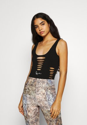 SMALL SIGNATURE CUTOUT BODY - Top - black