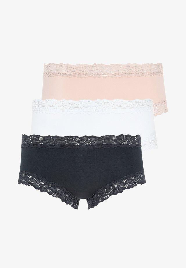 SLIP 3ER PACK PARISIENNE - Pants - weiß / schwarz / dusk