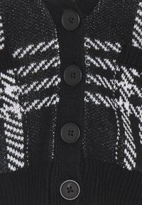 Noisy May - NMSQUARE OPEN CARDIGAN - Cardigan - black/bright white - 2