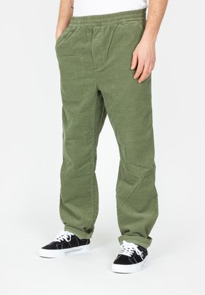 Trousers - dollar green rinsed