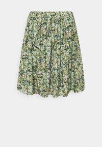 Marc O'Polo DENIM - SKIRT - Mini skirt - multi/fresh herb - 0