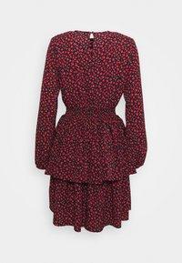 ONLY - ONLTESSA SHORT DRESS  - Day dress - black/paris ditsy /mars red - 1