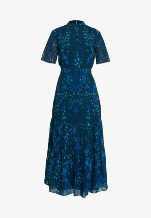MIRROR PRINT SKATER DRESS WITH DROP HEM - Robe de soirée - blue