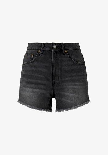 Denim shorts - destroyed dark stone grey deni