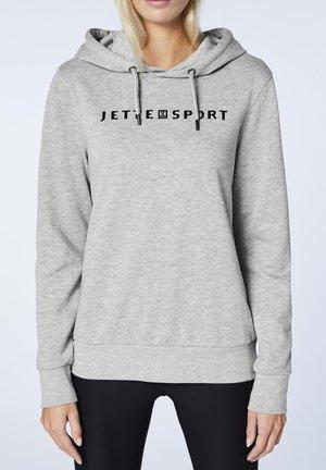 Hoodie - neutral gray melange