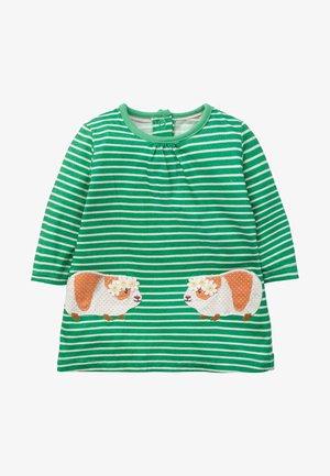 Jersey dress - spargelgrün/naturweiß, meerschweinchen